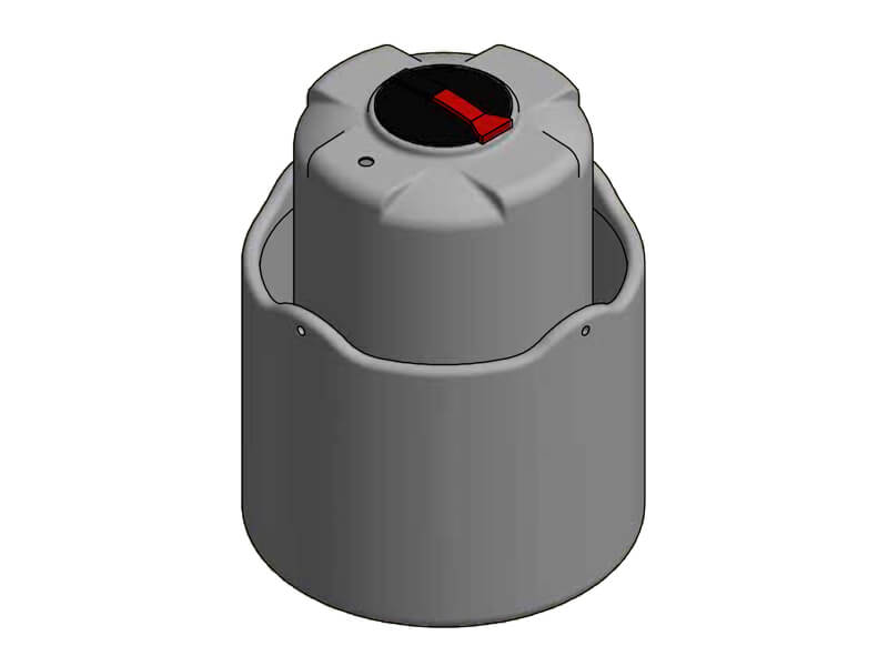 1100 Litre Open Bund Chemical Tank