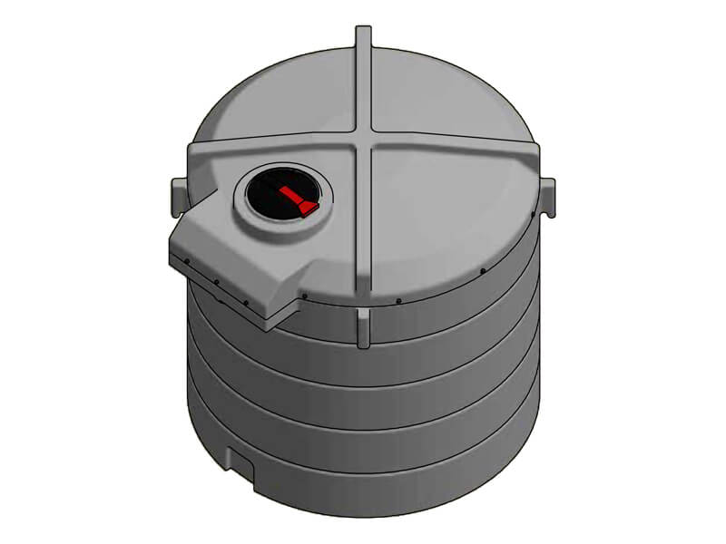 4000 Litre Enclosed Bund Chemical Tank