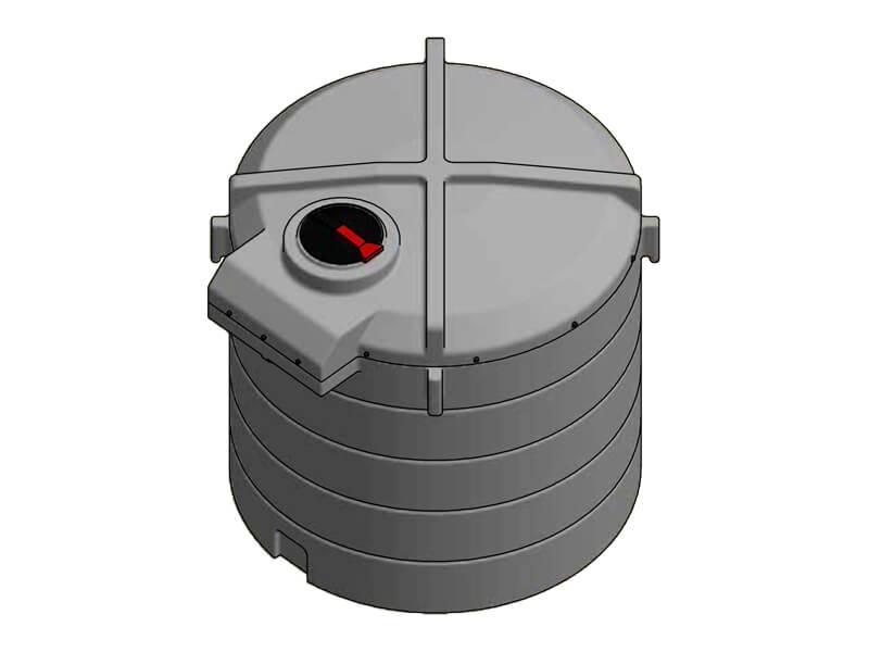6000 Litre Enclosed Bund Chemical Tank