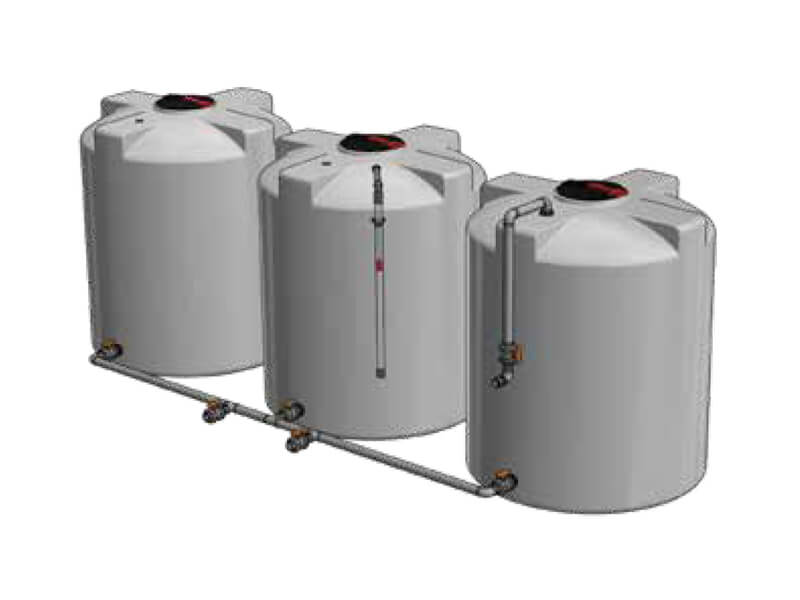 Connected Chemical Tanks